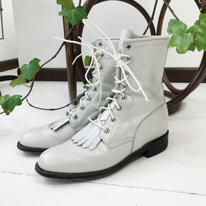 Vintage Justin Lace Up Western Leather Boots